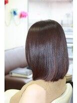 ヴィオレッタ ヘアアンドスペース(VIOLETTA hair&space)ワンレンボブカット×ブラウンカラー×上品[塚口美容室]