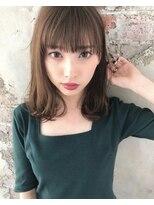 アフロート ルヴア 新宿(AFLOAT RUVUA)大人可愛い上質ミディアム#デザインカラーマッシュウルフオン眉