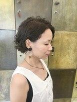 ヘアーアイスカルテット(HAIR ICI QUARTET)ショートボブ × ウェービー × パーマ × ミントアッシュ