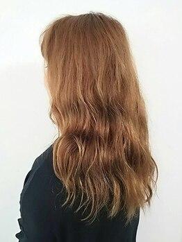 ルクサージュ 新検見川店(Luxage)の写真/コラーゲンカラーで透きとおる艶髪へ。大人カワイイ色味なダメージレスカラー★