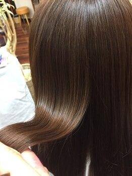 ヘアー イズム アンズー(HAIR ISM ANZU)の写真/【ケラテックスケア】今話題の髪質を改善できる酸熱トリートメントご用意あり♪憧れのうるツヤヘアが叶う★