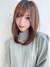 ハピネス 西大寺店(Happiness)ヨシンモリ エアリーミディことりベージュ ハイライト 髪質改善