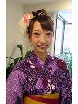横濱ハイカラ美容院(haikara美容院)浴衣用デコレーションアップ