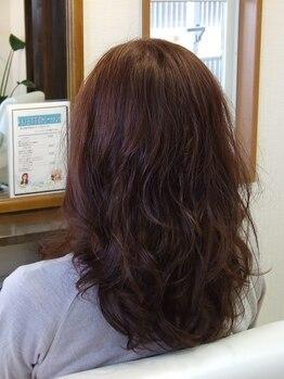 ヘアーアンドデザイン アクシー(hair&design AXY)の写真/化粧品登録のパーマ液を使用♪ダメージを最小限に抑えた上質なパーマで、質感柔らかなスタイルに仕上がる☆