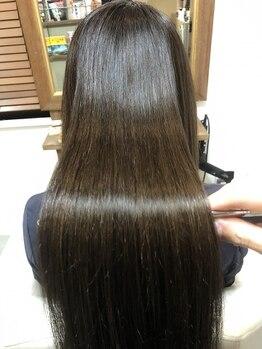 シエル ヘアーデザイン(Ciel Hairdesign)の写真/【オージュア取扱店】紫外線や乾燥で傷んだ髪にCielの上質なヘアケアを◎するん♪となめらかな艶髪に☆