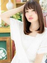 カバーヘア ブリス 北浦和西口店(COVER HAIR bliss)*bliss北浦和*大人かわいい♪甘カラー♪斜めバングワンカールa