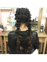 ヘアセットサロン アトリエ チャイ(Hair set salon atelier CHAI)編みおろしツイン