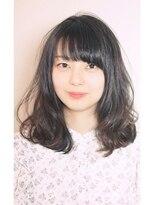 エトネ ヘアーサロン 仙台駅前(eTONe hair salon)【eTONe】ミディアム艶ウェーブ