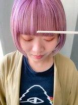 テトヘアー(teto hair)ペールパープル、ピンクパープル、ワイドバング、ミニボブ