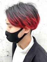 レーヴ(Reve)men'sマッシュレイヤーstyle×red gradation color【レーヴ】