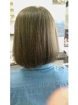 ヴィオレッタ ヘアアンドスペース(VIOLETTA hair&space)ふんわりボブ×オリーブグレージュ×透明感[塚口美容室]