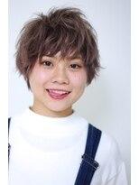 伸ばしかけのショートはラフ前髪で可愛く♪@藤井仁紀