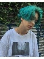 ピープル(people)[people]TURQUOISE BLUE × ボーイッシュSHORT