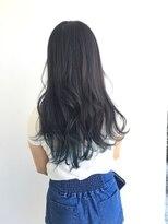 ヘアメイク オブジェ(hair make objet)ロング ブルーグラデーション