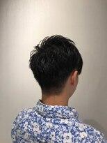 コンパクトマッシュ×ツ-ブロックヘア