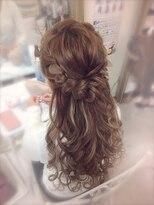 ヘアセットサロン ルミナ(LUMINA)前髪編み込みハーフアップ