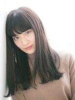 【SOCO】伸ばしかけ◎厚めバング☆黒髪クラシカルワンレングス