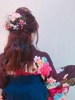 【卒業式着付けヘアセット】 謝恩会 二次会 スタイル10