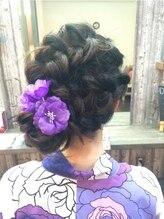 ヘアリゾート ロア(Hair Resort LoRE)お祭り編みこみおだんごスタイル