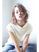 ココロヘアー 中島店(Cocolo hair)【Cocolo hair】グレージュ×セミディ―