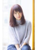 ラミエ(Ramie)【Ramie寺尾拓巳】大人女子のピンクアッシュストレートミディ