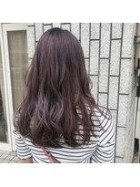 アルマヘアー(Alma hair by murasaki)ラベンダーブルーのロングスタイル