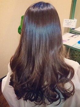 """ヘアー カフナ ジェーアール蒲田西口店(hair kahuna)の写真/≪スペシャルM3酵素カラー≫で""""うるツヤ美髪""""に!髪や頭皮へのダメージを気にせず、カラーを楽しめる♪"""