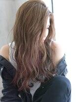 ヘアアンドメイク アリス(hair&make ALICE produce by COLT)ハイライト×アッシュベージュ×アクセサリーカラー×ピンク
