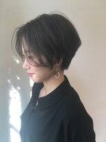 シアン ヘア デザイン(cyan hair design)【cyan】ハンサムショート×ベリーブルー