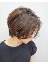 エイム ヘアメイク 横川店(eim HAIR MAKE)透け感たっぷりハンサムショート
