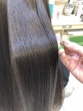 アッシュ 白楽店(Ash)【マイナス5歳の艶髪】髪質改善サラ艶縮毛矯正