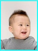 6か月~1歳未満児のカット・男の子カット・ソフトモヒカン