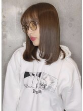 アフィーロ(Achfilo)内田理央髪型 切りっぱなしグレージュ 20代30代艶感前髪エクステ