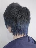 STELLA☆ YU 鬼滅カラー ブルー グラデーション 難波 美容室