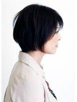 ブルー(bleu)very ショートボブ+ポイント矯正