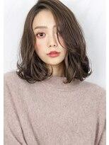 ヘアサロン ガリカ 表参道(hair salon Gallica)☆ グレージュ & 毛束感 ☆ ひし形シルエット小顔ミディ♪
