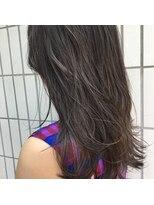 アリーズヘアー 青山(allys hair)愛されセミディ◇ダークグレー ハイライトたっぷり透明感カラー
