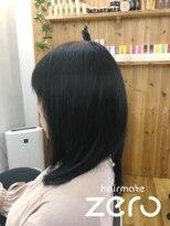 ヘアーメイクゼロ 坂戸駅前店(hairmake zero)重ためミディアムレイヤー