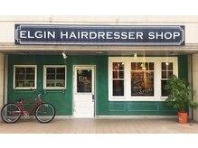 エルジン ヘアドレッサー ショップ(ELGIN HAIR DRESSER SHOP)の雰囲気(グリーンの壁がカワイイ店舗☆)