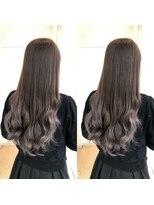 ビーヘアサロン(Beee hair salon)シールエクステでダメージゼロ!グレージュカラー☆渡部雅己
