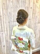 ヘアースペース ムーン(Hair Space MOON)入学入園大人の着付とヘアセット式に間に合うように早朝でも可能