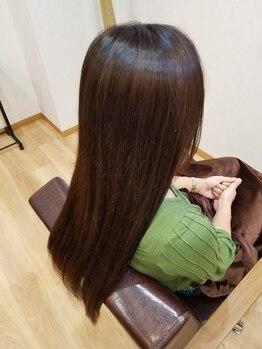 ルモア(LUMORE)の写真/「髪のお掃除」でダメージケア。髪に付いている不要な残留物を除去する事でぺたんこ髪もふんわり髪へ♪