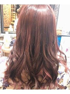 ロコマーケット 下北沢店(hair meke Deco.Tokyo)デザインカラー☆レッド