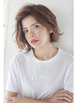 モッズヘア いわき銀座通り店の写真/デザインカラーはオリジナルテクニックのバレイヤージュでスタイリッシュに。