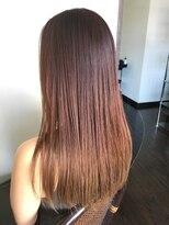 フェリーク ヘアサロン(Feerique hair salon)サンシャインオレンジのグラデーションカラー
