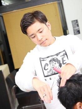 オンヘアー(On-hair)の写真/【メンズ限定☆カット+クイックスパ¥3000】男性も入りやすい!貴方の雰囲気に合わせて臨機応変にご対応★