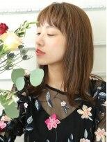 ショコラウメダ(Chocolat UMEDA)ワイドバンク★とろみ艶髪ミディアムロング