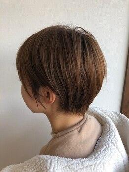 ヘアー リラクゼーション アンヴィ(Hair Relaxation anvi)の写真/質感にこだわった、洗練されたショートスタイル。自宅でも簡単に再現できるSTYLEをご提案いたします◎