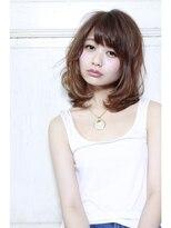 ミンクス 銀座店(MINX)【MINX山本】顔まわりに軽やかなレイヤー★グレージュロブ