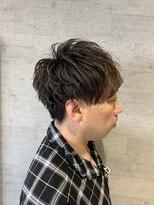 レザボア ヘアーアンドビューティー ハイブ店(reservoir Hair&Beauty Haibe)2ブロックナチュラルマッシュ 緩めスパイラル